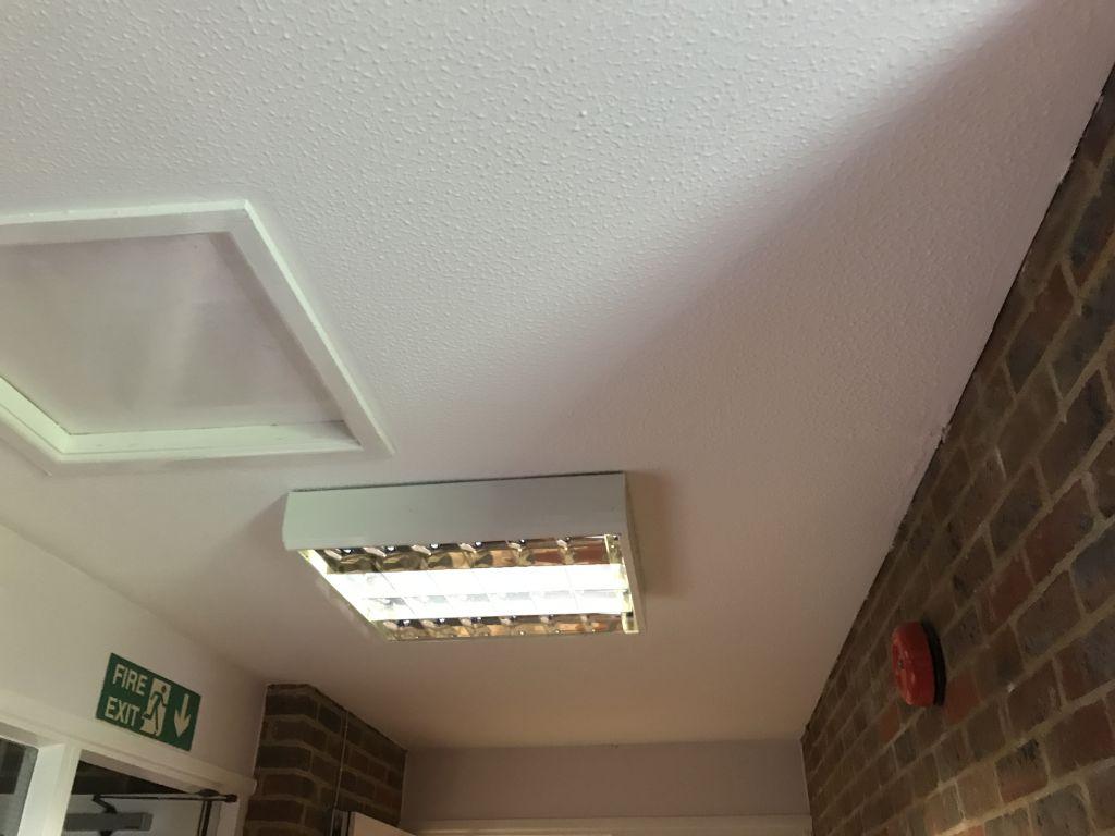Asbestos ceiling in building